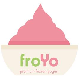froYo Premium Frozen Yogurt logo
